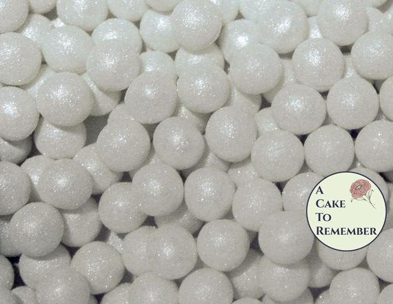 Wedding - 100 8mm fondant cake pearls, sugar gems for cake decorating, cupcake pearls, cake bling, edible cake jewels, edible pearls, sugar pearls