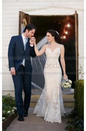 Mariage - Martina Liana Beaded Lace Sheath Wedding Dress Style 819