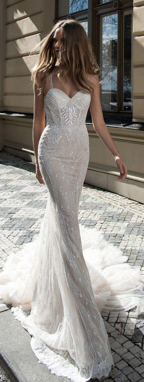 Wedding - 100 Most-Pinnned Mermaid Wedding Dresses