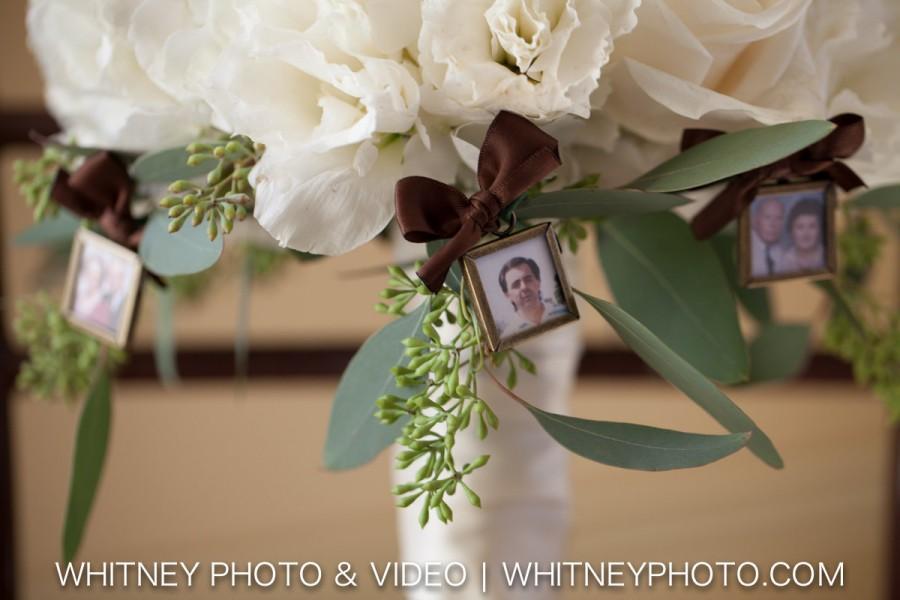 زفاف - Square Double Sided Photo Frame Bouquet Charm