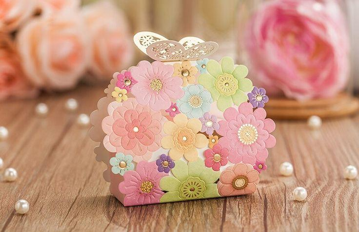Mariage - Flower Butterfly Laser Wedding Favors And Gifts Box