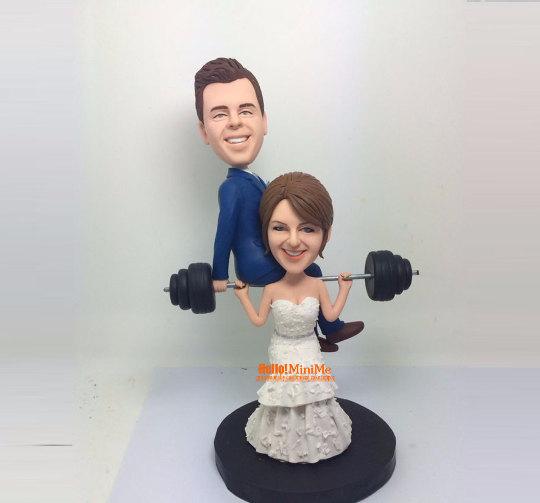 custom cake topper wedding topper bobblehead custom wedding cake topper bobble head weight. Black Bedroom Furniture Sets. Home Design Ideas