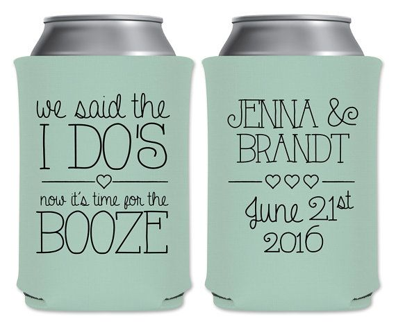 Personalized Can Coolers ~ Wedding can coolers beverage insulators personalized