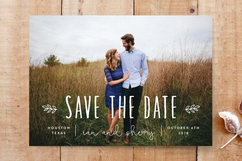 """Mariage - """"Homegrown"""" - Customizable Save The Date Cards In White By Sara Hicks Malone"""