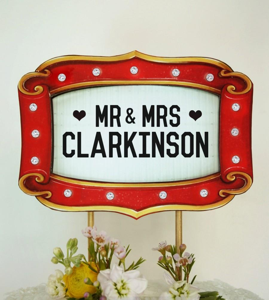 "Свадьба - Custom Wedding Cake Topper Marquee Sign - Movie Theater Decoration with Keepsake Stand. More Info? Scroll & Read ""Item Details"""