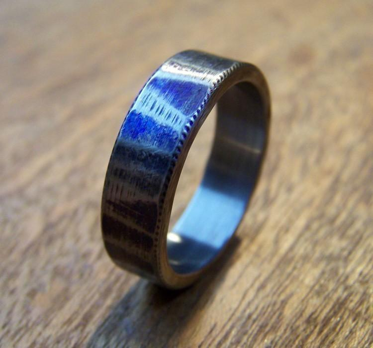 Hochzeit - Titanium Ring, Distressed Ring, Wedding Ring, Mens Ring, Womens Ring, Custom Made Ring, Wedding Band Set, Engraved Ring, Unique Ring
