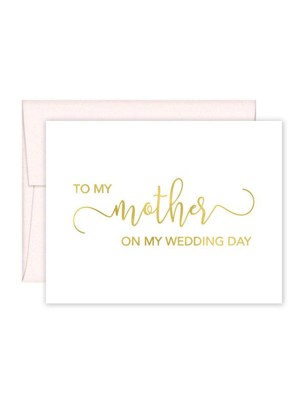 Mariage - To My Mother on my Wedding Day Card - Wedding Card - Day of Wedding Cards - Mother Wedding Card - Mother Wedding Day Card (CH-9YM)