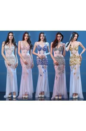 Hochzeit - 2016 Elegant Evening Dress Sexy Nightclub Bar Long Lace Dress