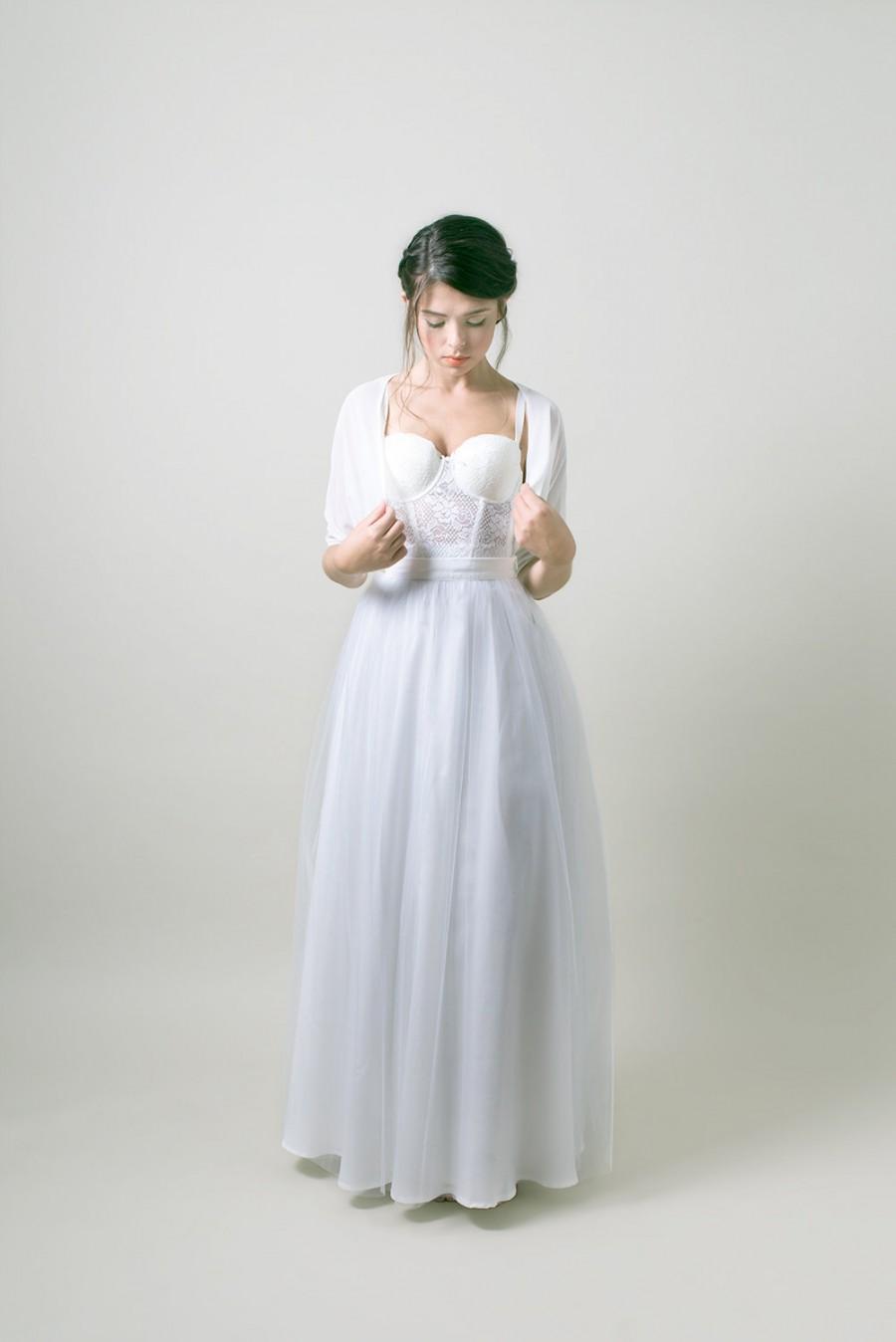 Light Grey Tulle Wedding Skirt / Floor Length Bridal Skirt / Bridal ...