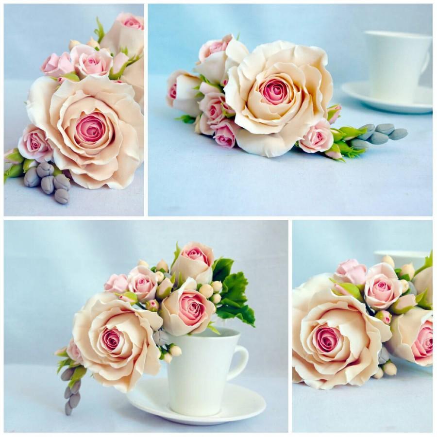 زفاف - wedding supplies - flower cake topper, cake accessories, wedding cake toppers