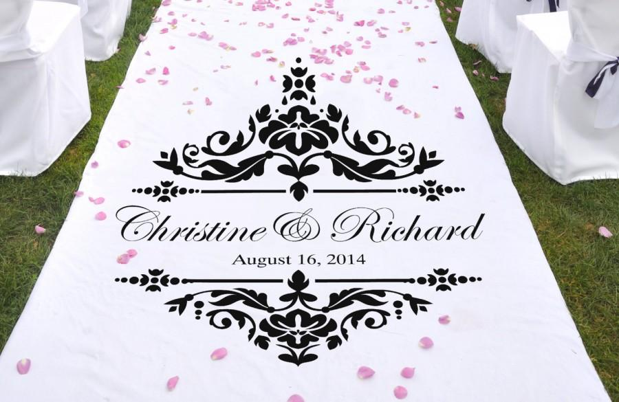 """Mariage - Damask Wedding Stencil for aisle runners WW928 31"""" wide X 31"""" tall"""