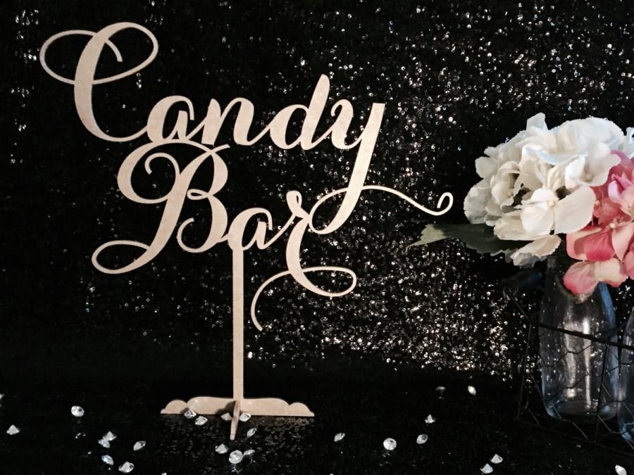Свадьба - Candy Bar Table Sign, Candy Bar Sign, Sweets Buffet Sign, Candy Table Sign