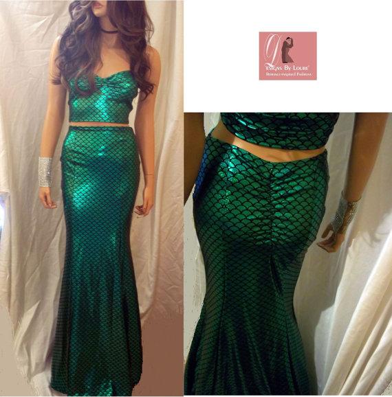 mermaid maxi skirt set green mermaid scale skirt set