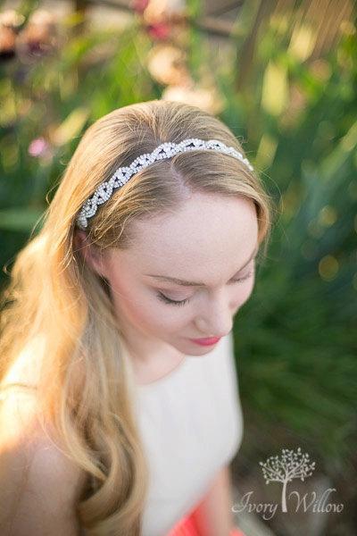 Hochzeit - Wedding Hair Accessories  - Bridal Hairband - Bridal Tiara - Bridal Headband - Wedding Hairstyles - Bohemian Bridal Band -