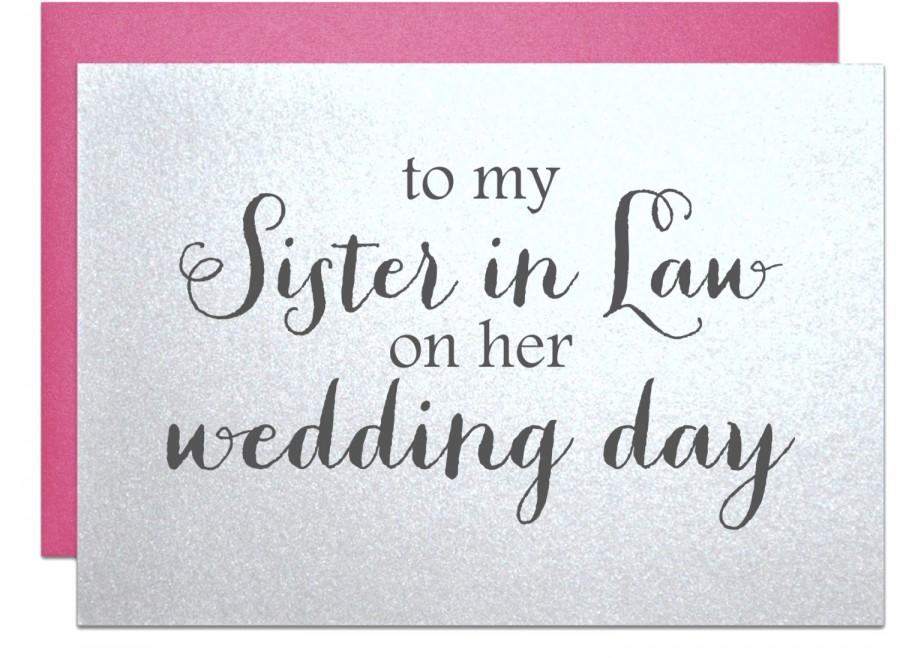 wedding card to new sister in law for bridal shower cards sister inlaw engagement party card sil bachelorette card wedding day gift note