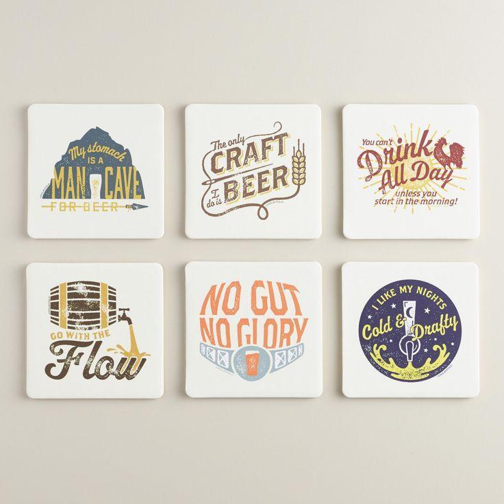 Свадьба - Pour Folk Coasters 6 Pack