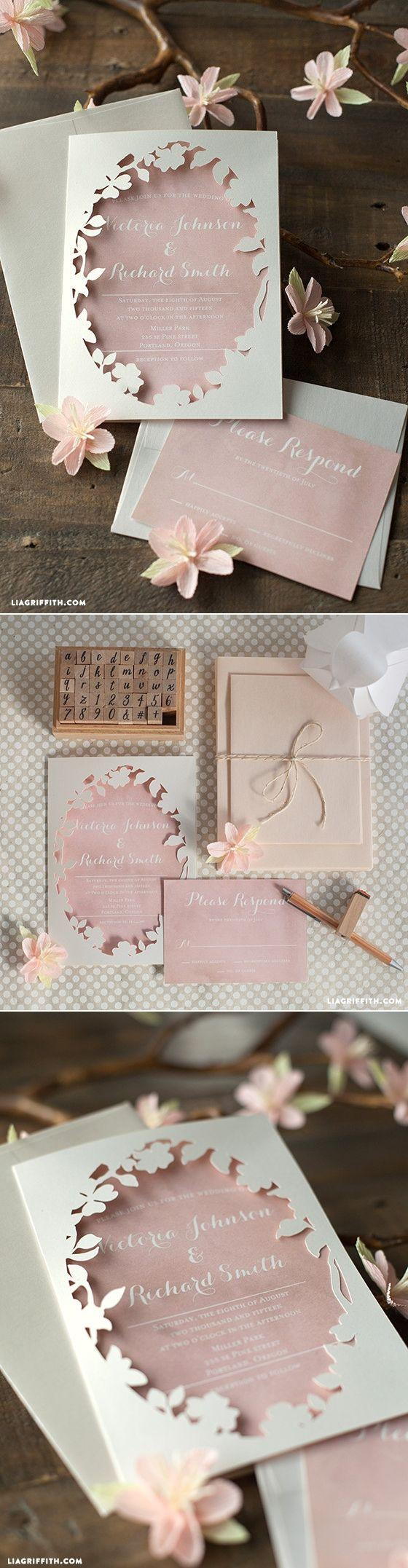 Mariage - Spring Blossom Printable Wedding Invitations