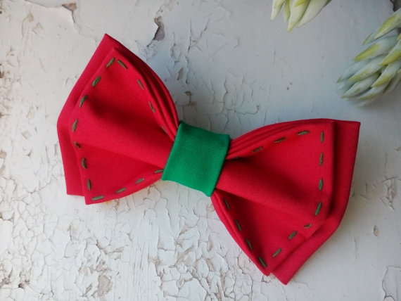 christmas bow tie mens red bowtie green decor design xmas baby boys gift toddler red green tie holiday necktie christmas kids party bowties
