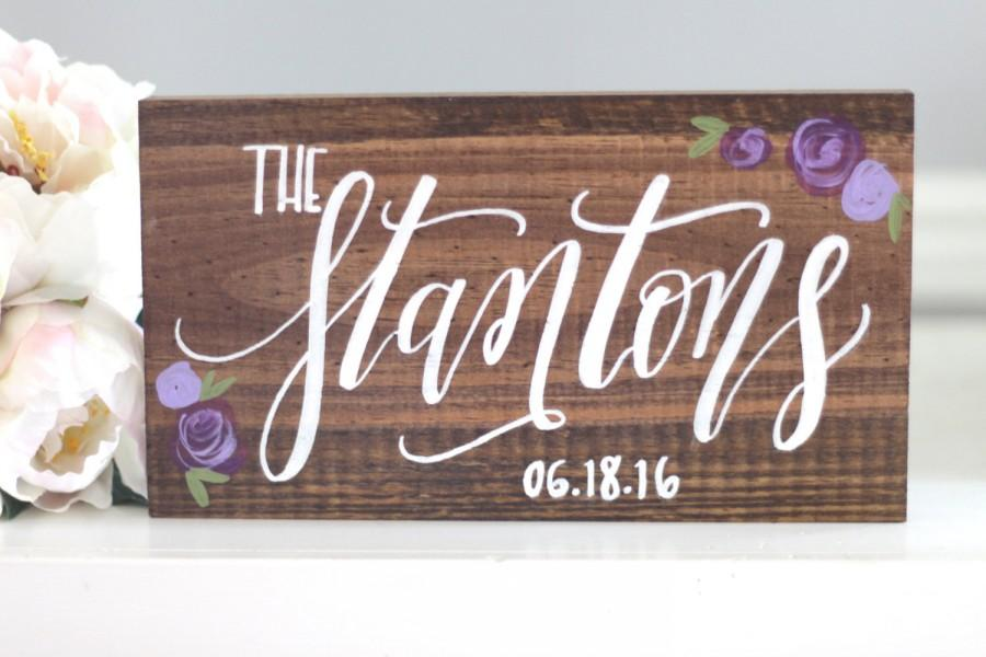 Свадьба - Family Name Established Sign, Rustic Wedding Sign, Save the Date Sign, Photo Prop Sign, Wedding Gift, Rustic Home Wall Art