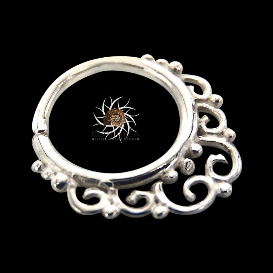 silver septum ring septum jewelry septum piercing