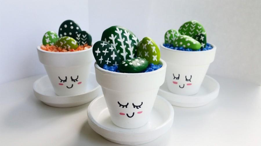 Mini Hand Painted Cactus Pots Cute Cacti 2562049 Weddbook