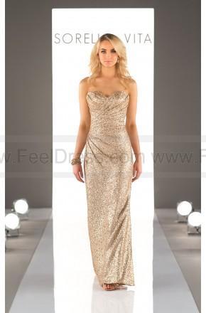 Wedding - Sorella Vita Floor Length Sequin Metallic Bridesmaid Dress Style 8794
