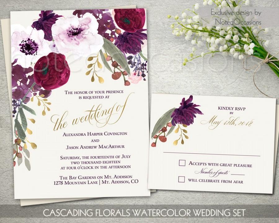 Boho Chic Wedding Invitation Printable Set