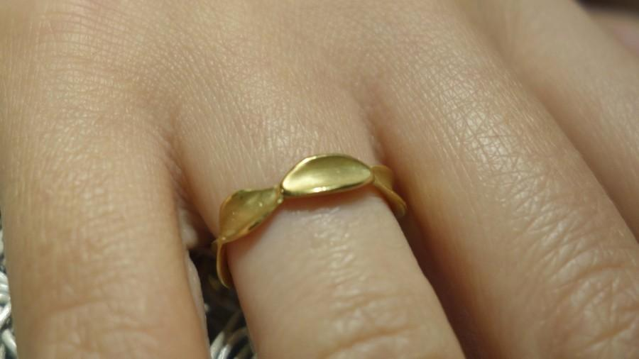 Mariage - Unique wedding band gold handmade ring Promise ring Women wedding band solid gold different unusual matte ooak modern One of a kind