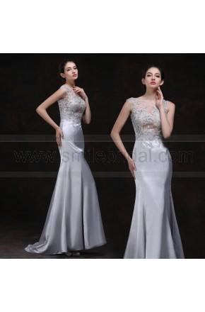 Mariage - Gray Evening Dress 2016 New Hollow Slim Fishtail Dress Sexy Nightclub Bar Dress