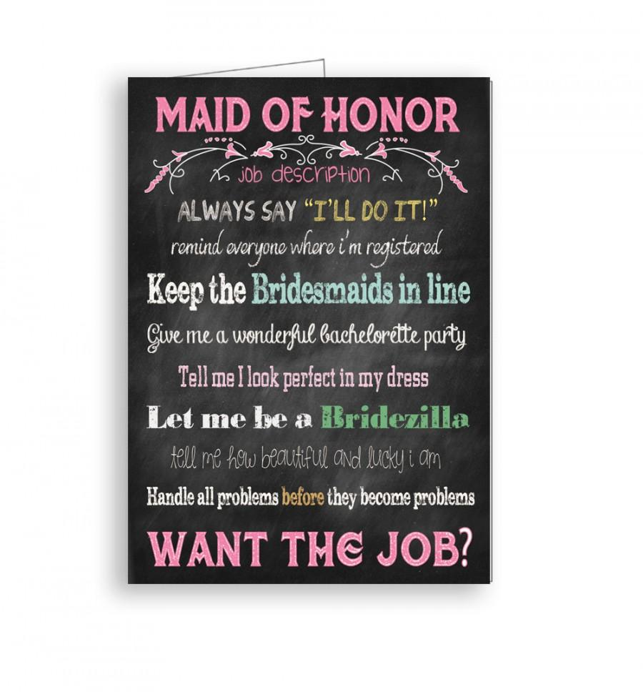 Maid of honor card will you be my maid of honor job description for maid of honor card will you be my maid of honor job description for maid of honor stopboris Choice Image