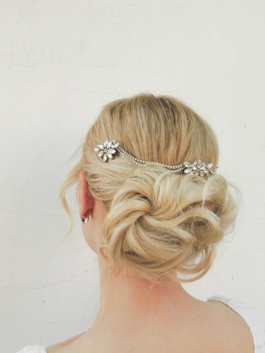 Wedding Hair Accessories Art Deco Headpiece Rhinestone Piece Hair Chain Chain Headpiece 1920s Style Hair Vine 2562391 Weddbook