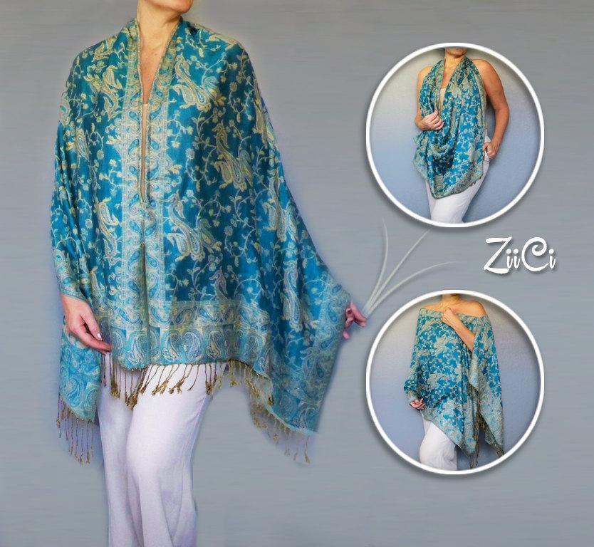 Wedding - Turquoise Shawl Wrap