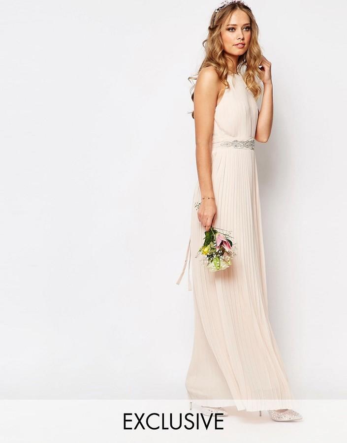 d63a4ddd3c5 TFNC WEDDING High Neck Pleated Maxi Dress  2562562 - Weddbook