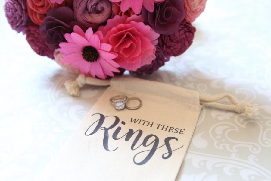 With These Rings Ring Bearer Drawstring Bag Alternative To Ring