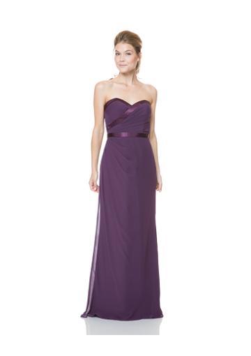 Wedding - Zipper Up Sweetheart Floor Length Chiffon Purple Bridesmaid