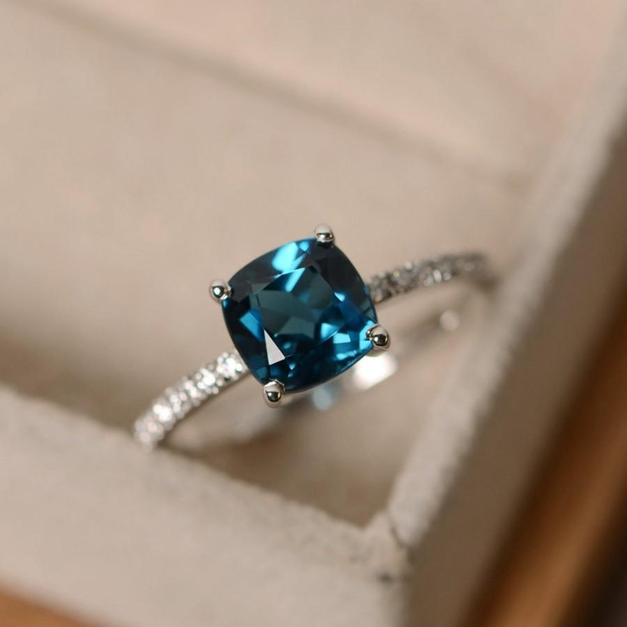 Ring With London Blue Topaz And Emerald