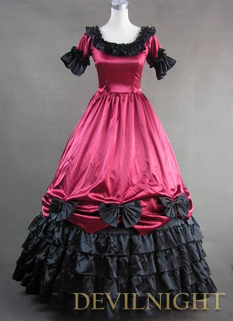 Red And Black Short Sleeves Gothic Masquerade Ball Gowns #2562802 ...