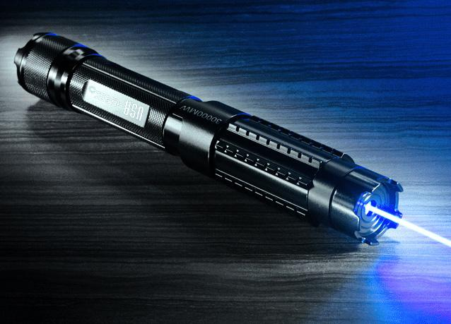the world s most powerful high powered 30000mw blue laser pointer