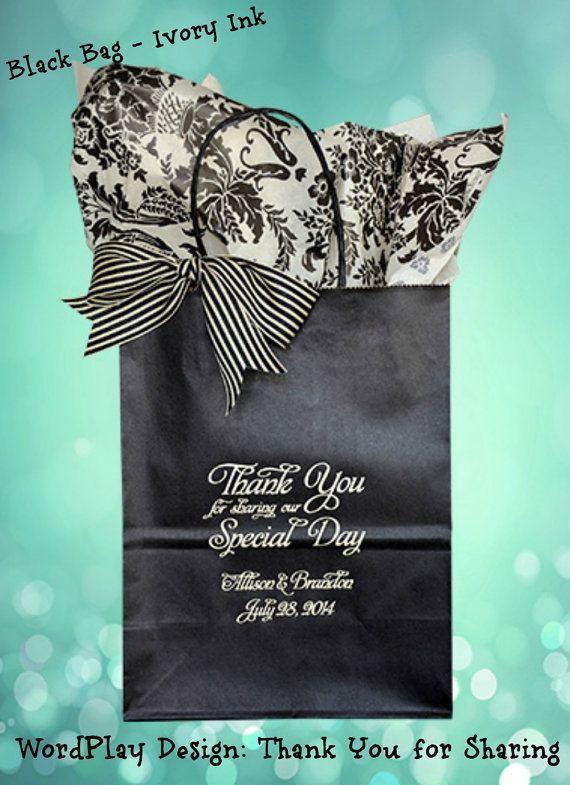 زفاف - 50 Personalized Wedding Welcome Bags Wedding Guest Gift Bag Welcome Bags For Weddings~ Holds 5  Lbs. Of Guest Goodies. FREE SHIPPING!*