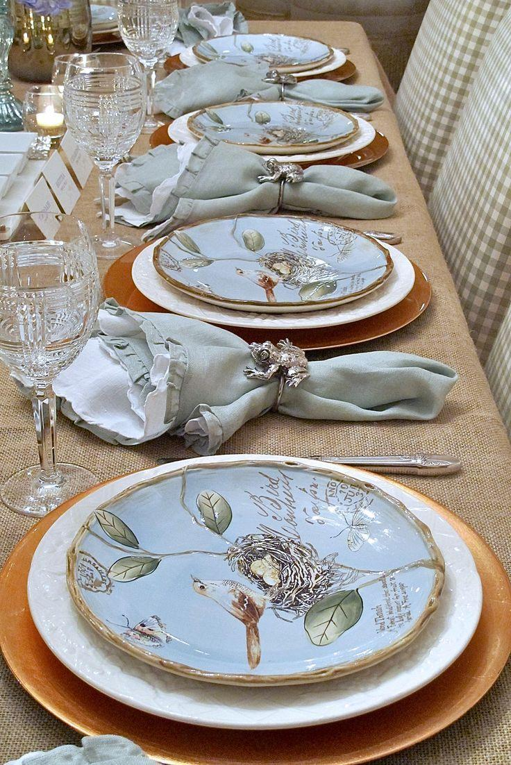 Mariage - Springy Seder - A Nature Inspired Spring Table Setting