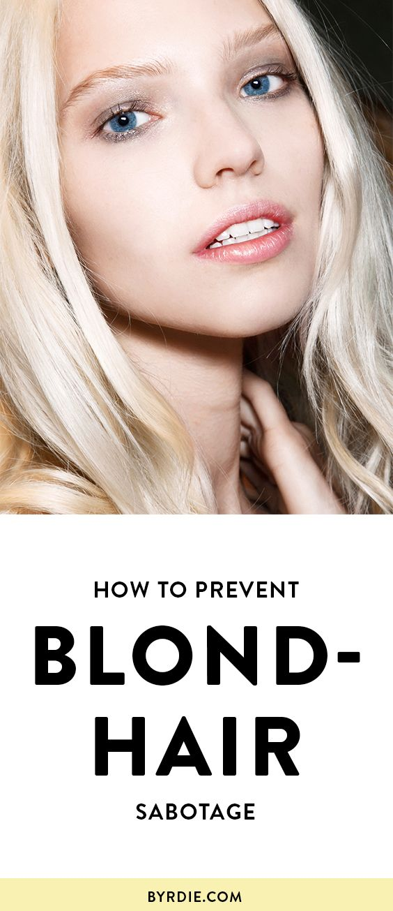 Свадьба - The Only Products You Need To Prevent Blond-Hair Sabotage