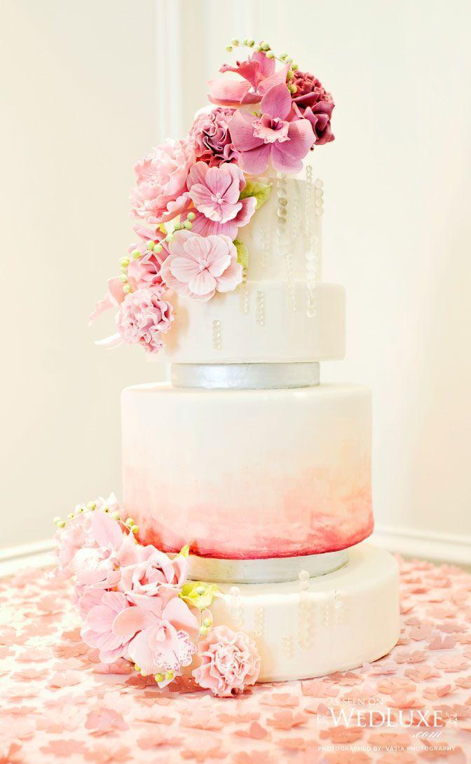 زفاف - 15 Fabulous Ombre Wedding Cakes