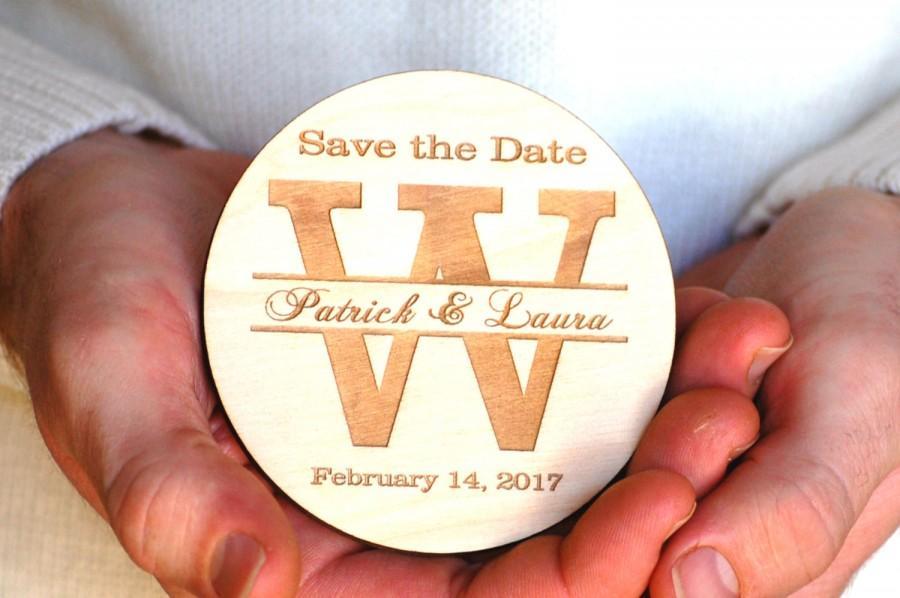 زفاف - Wood Save the Date Magnets Personalized Save the Date Postcards Rustic Wedding Save the Date Magnet Wood Bridal Shower Invitation Magnetic