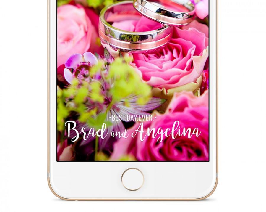 Свадьба - Custom Wedding Snapchat Geofilter