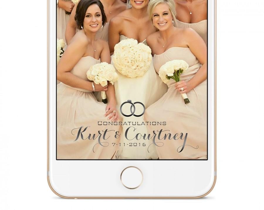 Wedding - Custom Snapchat Geofilter for Your Wedding