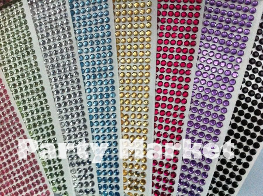 Mariage - 560 pcs 3mm Self Adhesive Rhinestone Crystal Bling Diamond Stickers Round Design - Wedding Decoration DIY iphone car auto Interior Exterior