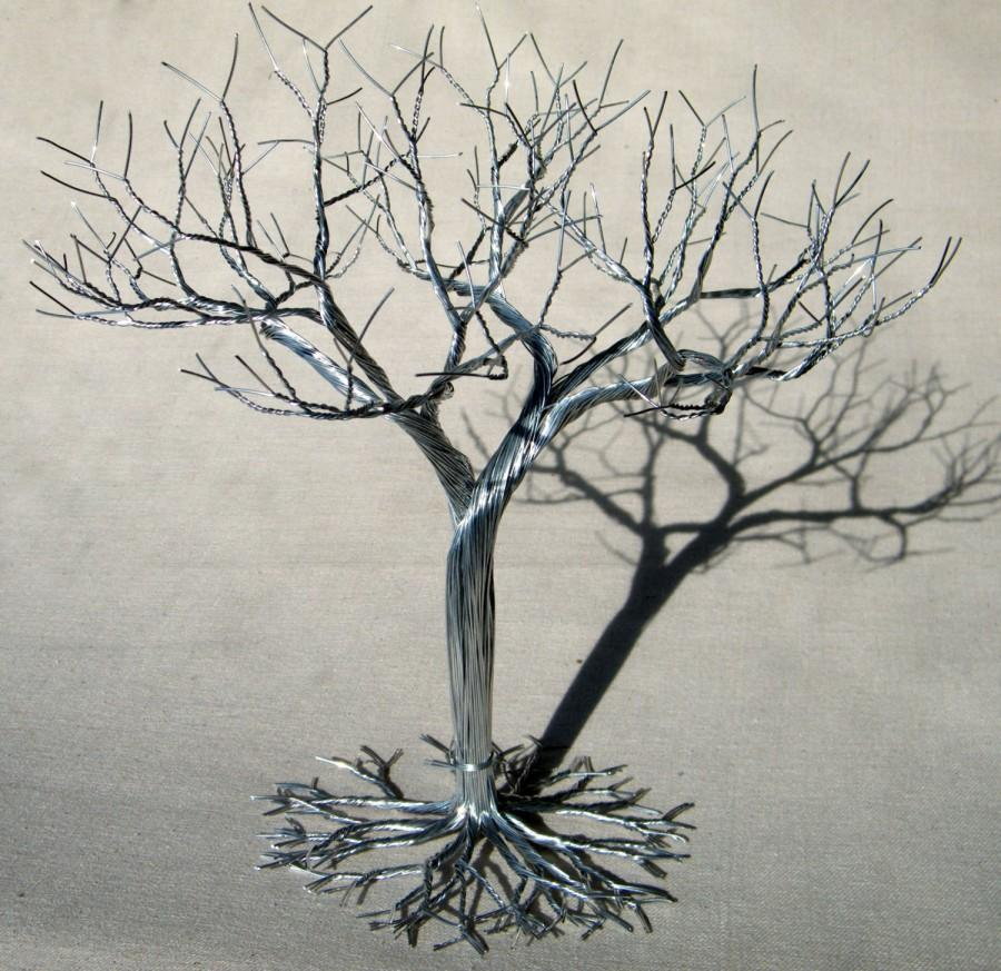 Wedding Cake Topper Wire Tree Sculpture Earring Jewelry Stand Display