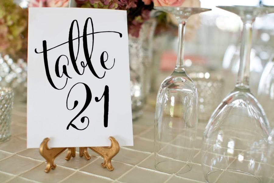 150 Black Wedding Table Numbers Printable Wedding Table Numbers