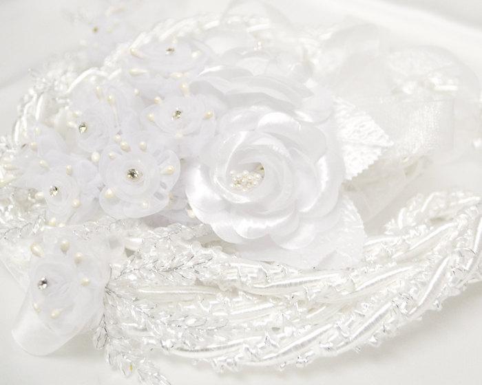 Wedding - White Wedding Lasso Rope - White Organza Wedding Lazo Cord - White Wedding Lasso Cord (7016)