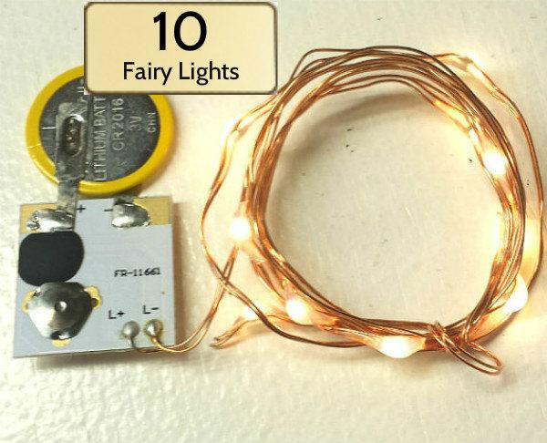 Wedding - Wedding Budget Saver!  Low-cost, 3-Ft Wedding Fairy Lights, 10 Warm White LEDs, Battery Included. Designed for Event Planners.